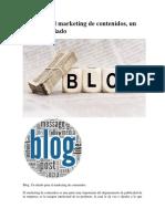 Blog Para El Marketing de Contenidos, Un Excelente Aliado