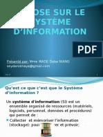 Expose Sur Le Système d'Information