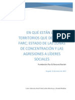 Informe en Qué Estan Los Territorios Que Dejan La FARC