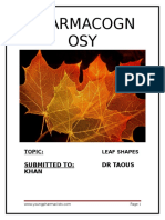 Pharmacognosy Leaf Shapes