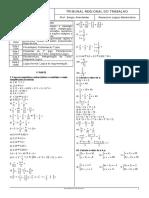 Raciocínio Lógico Matemático TRT