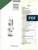 Sokkia DT5 Manual