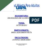 Tarea i Sociologia de La Educacion Rosa Alba Brito