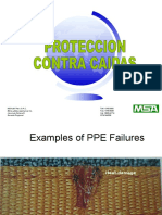 Ejemplos de Fallas o Defectos EPP Contra Caídas JLEB