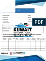 Kuwait international Boat Show. Boat information