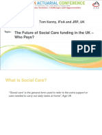 Parallel 3- Future of  Social care funding in UK