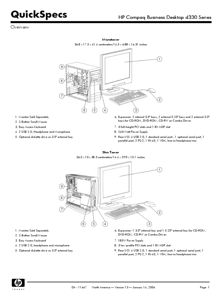 HP Compaq Business Desktop d330 Series   Bios   Booting