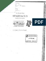Spartacus Partitura
