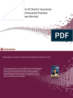 Parallel 11 - Development of china insurance industry and actuarial practice