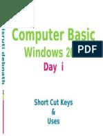 DCA Day 1Short Cut
