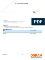Data Sheet Pd Bpw21, Osram