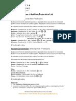 BPO Violin Repertoire