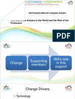 Parallel 18 - Role of actuary in the world