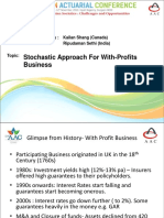 Parallel 19 - Stochastic approach for with-profits business