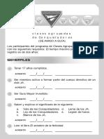 Requisitos Tarjeta Agrupada de Conquistadores