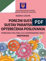 Vijeće Za Gospodarska Pitanja - Porezni Sustav i Sustav Parafiskalnih Opterećenja Poslovanja