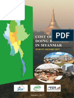 Cost of Doing Business in Myanmar-survey Report 2017
