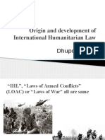 Origin and Development of IHL