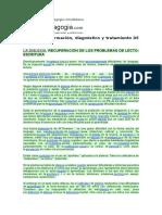Dislexia. Información, Diagnóstico y Tratamiento