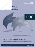Edexcel GCSE 9-1 Maths Specimen Papers Set 2