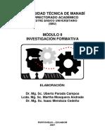 INVESTIGACIÓN FORMATIVA 2007
