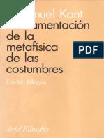 Kant- Fundamentación de la metafísica de las costumbres Ed. Ariel .pdf