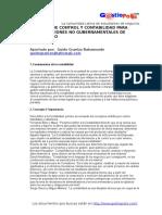 Control y Contabilidad Para Cooperativas