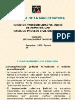 Luis Madariaga - Procedibilidad vs Admisibilidad (análisis de los presupuestos procesales en el proceso civil)