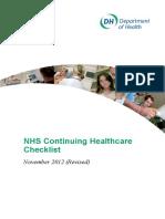 Nhs Chc Checklist Final