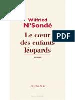 Extrait Le Coeur Des Enfants Léopards(1)