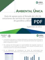 Guia de Referencia Solicitud de LAU-Estaciones de Servicio 201609