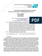 Analyzing the Impact of Service Quality Dimensions on Customer Satisfaction and Loyalty in the Banking Iran