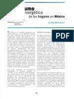 Consumo Energético de Los Hogares en México Sanchez