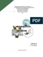 Informe Direccion de Ventas Presupuesto de ventas