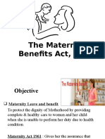 IR Lecture 21 Maternity Benefit Act