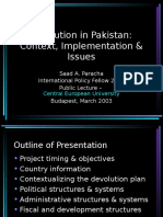 Devolution in Pakistan