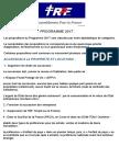Programme RPF Officiel 2017