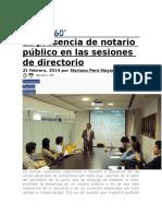 PAOPKA La Presencia de Notario Público en Las Sesiones de Directorio