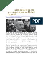 Frente a Los Gobiernos, Los Derechos Humanos. Foucault