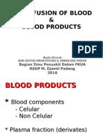 Kp 2.2.6.2 - Komponen Darah Yang Ditransfusikan, Indikasi Dan Tatacara Transfusi Darah