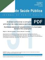 Análise nutricional e complementação alimentar de cesta básica derivada do consumo.pdf