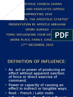APOSA CAMPMEETING 2010. INFLUENCE.ppt
