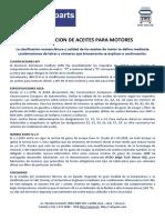 Clasificacion de los Aceites para Motor Diesel