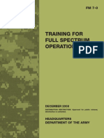 FM7 0 Training for Full Spectrum Operations December2008