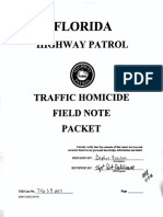 Florida Highway Patrol Field Note Packet for Tesla Autopilot Crash