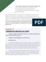 Instalaciones Eléctricas en Media y Baja Tensión Aplicadas Al Edificio de Un Hotel
