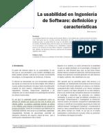 2. La Usabilidad en Ingenieria de Software- Definicion y Caracteristicas