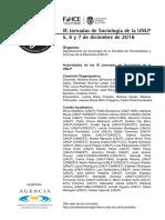 Programa Completo y Final IX Jornadas de Sociologia