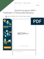 ⭐Optikai szövegfelismerő program ABBYY FineReader 12 Felhasználói kézikönyv