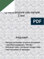 Statistik Z Test Uji Beda Proporsi Dua Sampel
